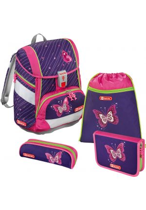 STEP BY STEP® Schulrucksack-Set 2 in 1 Butterfly 4-teilig