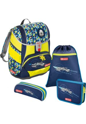 STEP BY STEP® Schulrucksack-Set 2 in 1 DIN Space Pirate 4-teilig