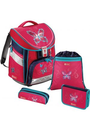 STEP BY STEP® Schulrucksack-Set Comfort Butterfly 4-teilig