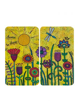 Lot de 2 plaques de verre de couverture - Choose to shine von Tina Hötzendorfer